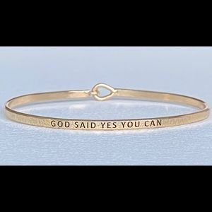 God say you can thin hook bangle bracelet